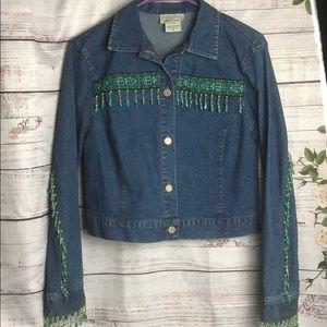 Any 2 items for $10 Barbara Lesser denim jacket